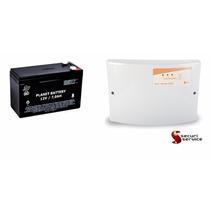 Kit Bateria Selada 12v 7a Recarregável + Central Gcp Cr