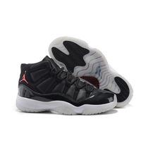Tenis Nike Jordan 11 72-10 Negro Piel Genuina