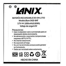 Bateria Pila Lanix S410 Llium 1800 Mah Envío Gratis