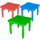 Mesa De Plástico Pvc Infantil Varios Colores Toyland