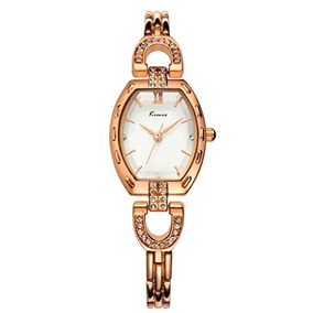 Tidoo Rose Gold Plated Dress Watch For Lady, Luxury Bracelet