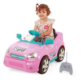 Mini Carro Eletrico Rosa C/ Carregador E Controle Remoto