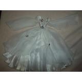 Vestido De Fiesta Para Barbie Blanco Alado Novia
