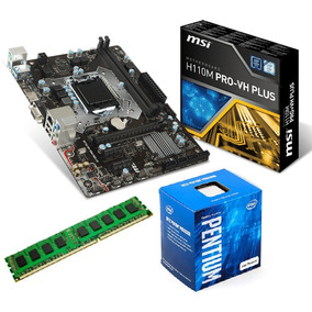 Kit Proc.g4560 + Mb Msi H110m Pro-vh Plus + Memoria 4 Gb