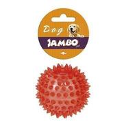 Brinquedo De Cachorro Bola Espinho Com Som Vermelha Pequena