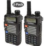Radios Baofeng 2-pack Black Bf-f9 V2 + Hp 8watt Tri-power