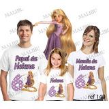 Lebrança De Aniversário Enrolados Personagem Camiseta 3 Uni