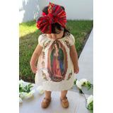 Vestido Virgen De Guadalupe Para Niña Con Bandita