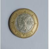 México 2000 : Moneda $20 Motivos Prehispanico - Fuego Nuevo