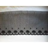 Lote 10 Rollos De 13 Metros Puntilla Negra Nylon Ancho 10 Cm