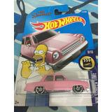 Hot Wheels Simpsons Auto Familiar Rosa Homero 2017