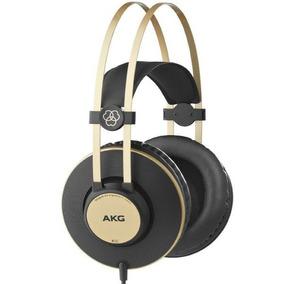 Fone Ouvido Akg K92 Profissional Heahphone Fechado Dourado