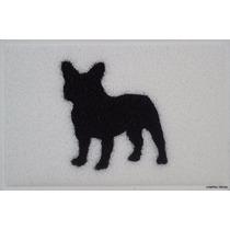 Tapete Capacho Bulldog Francês - Com Bordas Rebaixadas