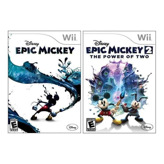 Imperdible Combo Epic Mickey 1 Y 2 Nuevo Nintendo Wii Vdgmrs