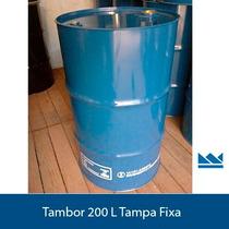 Tambores Metalicos 200 L Tampa Fixa Novo - Pronta Entrega