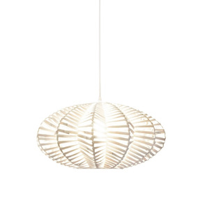 Lámpara De Techo Morph Diseño Nido Mimbre Blanco
