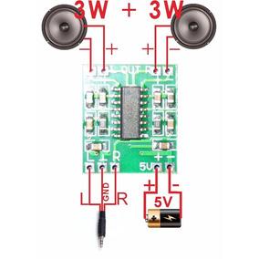 Mini Módulo Amplificador Som Estéreo 3w+3w Pam8403