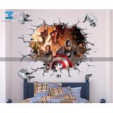 Vinilo Decorativo 3d Superhéroes Avengers-23 Sticker Calca