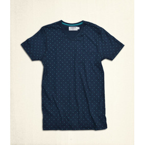 T-shirt Azul Marino Estampado Mini Cruces