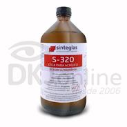S-320 Cola Para Acrílico Secagem Rápida 1 Litro Sinteglas