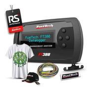 Fueltech Ft300 3 Metros + 12x Sem Juros + Camiseta Vw Ácido