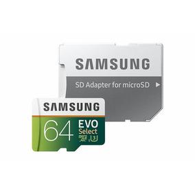 Cartão De Memória Micro Sd Sdxc Samsung Evo 64gb 100mb/s U3