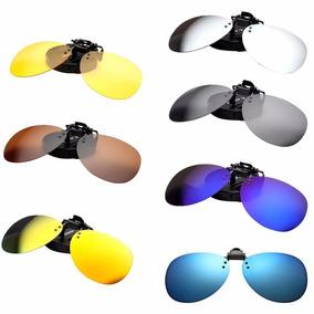 Clip On Gafas Lentes Polarizados Varios Colores Redondos