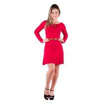 Vestido Banna Hanna Ombro Caido Vermelho