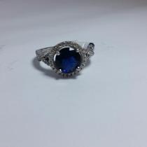 Anel Solitário Com Pedra Azul (anel De Formatura)