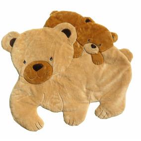 Tapete Infantil Urso Polar Pelúcia Antialérgico 1,10mx1,10m