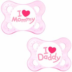Kit Chupeta Mam Mom Dad Rn 0-6m Menina C/ Box Esterilizador