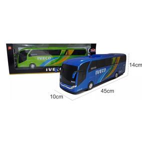 Miniatura Onibus Iveco 45cm Marcopolo Paradiso Campione Volk
