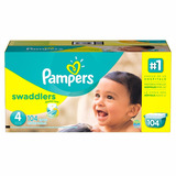 Pañales Pampers Swaddlers, Talla 4,104 Pzs.