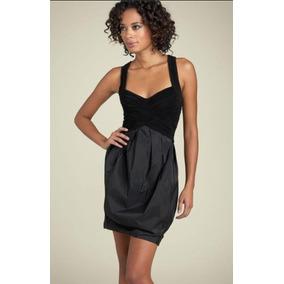 Vestido Bcbg Maxazria Fiesta Corto Negro Ajustable