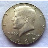 Moneda De Usa Medio Dólar De Plata De 1966