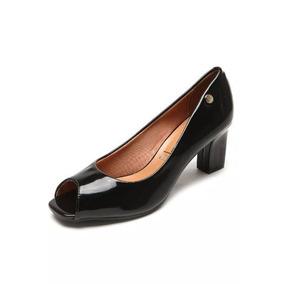 d2c5d27dd Peep Toe Preto Vizzano 39 Sapatos - Sapatos no Mercado Livre Brasil