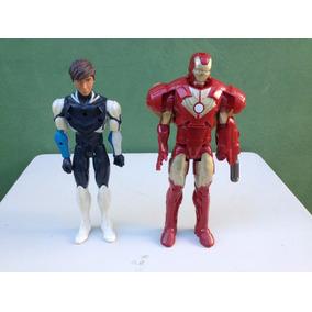 Boneco Homem De Ferro E Max Steel (usado)