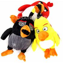 Pelúcia Angry Birds, Bomb, Chuck, Red, A Pronta Entrega
