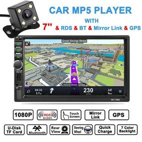 7 Hd 2 Din Coche Bluetooth Gps Navegación Fm Tv Touch Mp3 R