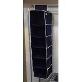 Organizador Colgante Para Closet Azul Obscuro