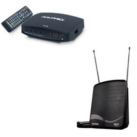 Kit Conversor Digital Isdbt Antena Recepção Dtv-7100 Aquário