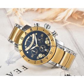 57cb3d49886 Relogio Bulgari Masculino Dourado - Relógio Bvlgari Masculino no ...