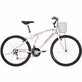 Bicicleta Houston Bristol Lance Branca Aro 26