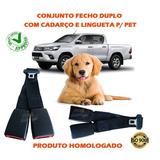 Transporte Seu Pet C/ Adaptador Cinto Segurança Fêmea Duplo