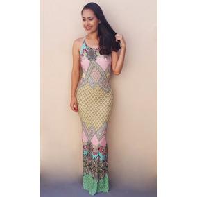 Vestido Longo Sereia Costa Nua Amarrar Lindo Moda Verao 2017