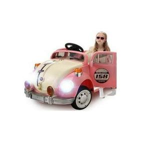 Mini Carro Infantil Fusca Rosa C/ Controle Frete Grátis