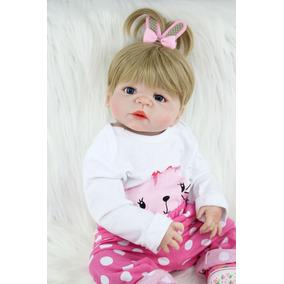 Boneca Bebê Reborn Toda De Silicone Recem Nascido Original