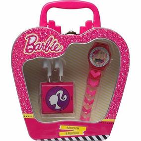 Brinquedo Menina Fashion Barbie Radio E Relógio-candide