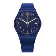 Reloj Swatch Mujer Azul Silver In Blue Gn416 Malla Silicona