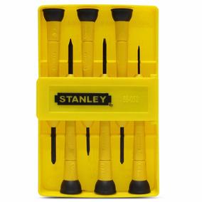 Jogo Chaves De Fenda De Precisão Stanley 6 Peças